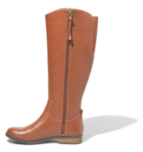 Universal Thread Women's Brisa Tall Faux Leather Cognac Brown Riding Boots NWT image 2