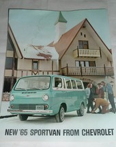 1965 Chevrolet Sportvan Van  Color Dealership Promo Brochure w/ paint sample - $15.00