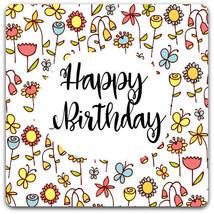 Double handmade card 'Happy Birthday' 15 x 15 cm with envelope - Card Bu... - $3.35