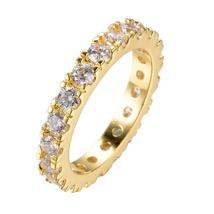 Dainty Gold Filled CZ Stone Eternity Ring Vintage - $4.98