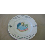 """PETER RABBIT SMALL PLATE 7"""" from WEDGWOOD CHINA, 1993 PETER SICK IN BED - $29.70"""