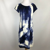 Chico's Womens Blue White Abstract Print Sheath Dress sz 0.5 (~ size 6 -... - $42.52