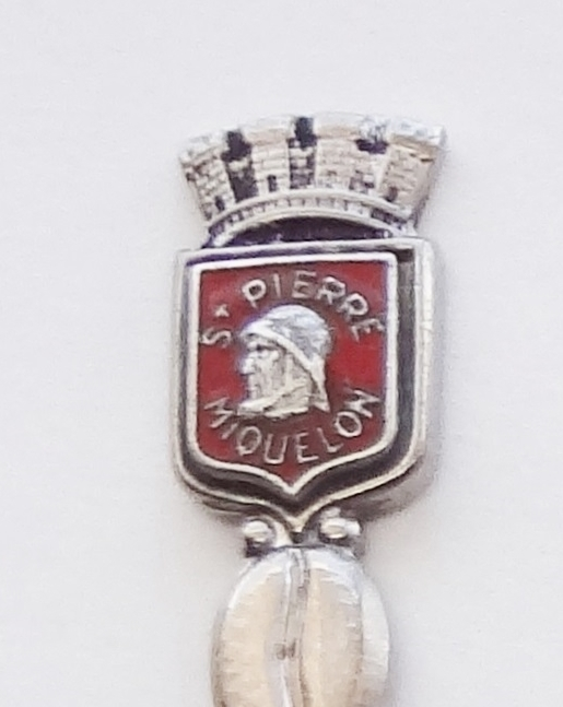 Primary image for Collector Souvenir Spoon St Pierre Saint Pierre Miquelon Lost Mariners Statue