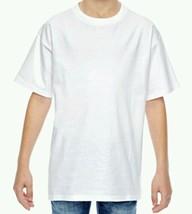 Hanes 100% Cotton ComfortSoft Kids T-Shirt Tagless Youth T-Shirt White M... - $6.99