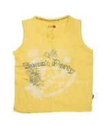 NWT Shilav Girl Beach Party Yellow Sleeveless T-Shirt 100% Cotton Tee To... - $12.99