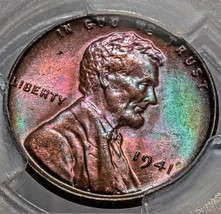 1941 MS64 BN  LINCOLN WHEAT CENT * ORGINAL TONING *  UNDER GRADING.  385 - $171.50