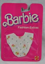 Barbie Fashion Extras White Floral Shirt Top 9870 Mattel 1984 Vintage - $7.79