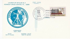 LAUNCH OF SKYLAB SL-3 S.P.P.S POSTCARD CAPE CANAVERAL FL SEPT 25 1973  - $1.98