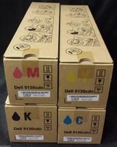 Set Of 4 Dell 5130CDN High Capacity Toner T222N R272N P614N N848N-NEW Oem - $650.00