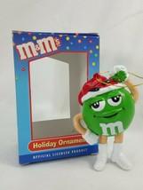 M&Ms Christmas Holiday Ornament Kurt S. Adler Green with Santa Hat   ZE17 - $4.69