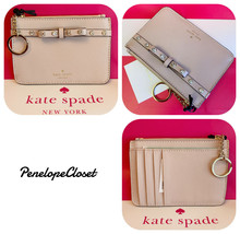 NWT KATE SPADE LEATHER LAUREL WAY JEWELED BITSY CARD KEY COIN WALLET WAR... - $24.88