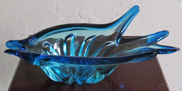 Vintage Murano Sculptured Solid Pulled Glass Fish Designed Table Display - $149.99