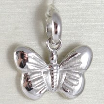 White Gold Pendant 750 18k, Butterfly Hexagonal socket button and Satin, Leng... image 1