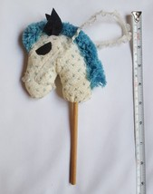 Christmas Tree Ornament Horse made of Fabric Wood Stick Yarn Head pre-owned vtg - $14.11