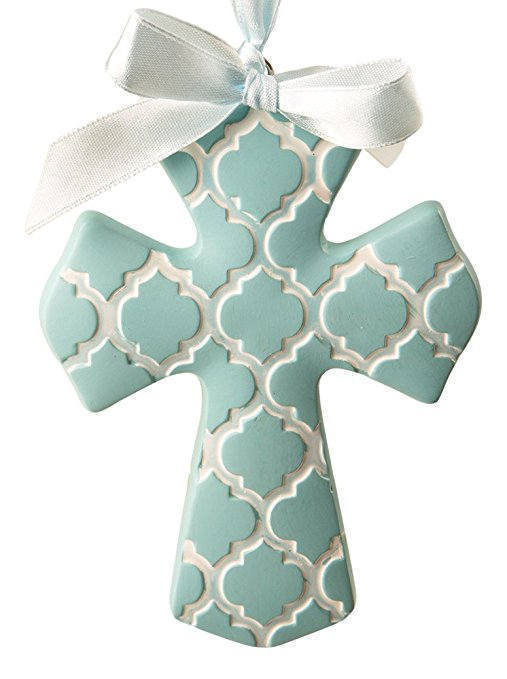 1 Blue Hampton Link Angel Ornament Favor Wedding Reception Baptism Custom Tag - $6.88 - $9.88