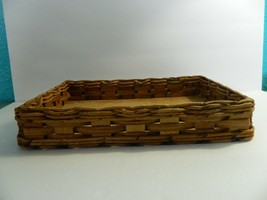 Vintage Pyrex Wicker Wood Long Casserole Dish Holder Cradle Fits 232 image 2
