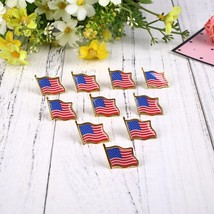 ORAF 1PCS Metal American Flag Pin Creative Brooch Tie Badge - $11.95