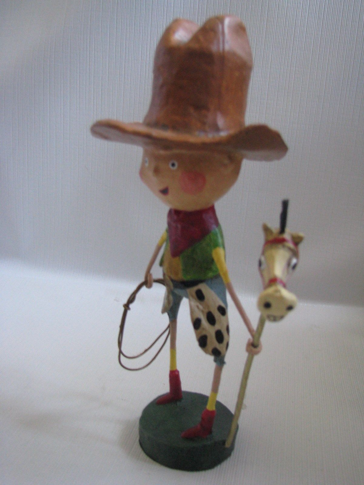 New Getty Up Lil'  Cowboy Figure  by LORI MITCHELL  Lasso Hobby Horse