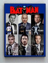 Framed 8.5X11 in. History of Batman Adam West George Clooney Christian Bale Val  - $19.19
