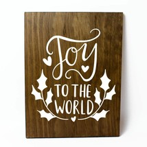 Joy to the World Solid Pine Wood Wall Plaque Sign Home Decor - $34.16