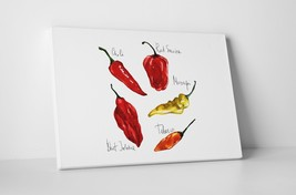 """Hot Peppers Kitchen Wall Art Gallery Wrapped Canvas. 30""""x20 or 20""""x16"""" - $44.50+"""