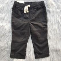 Cat & Jack Boys 12 Month 12M Black Pants Elastic Drawstring Waist NWT Sk... - $7.69