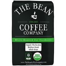 The Bean Coffee Company Organic Mocha Java, Medium Roast, Whole Bean, 5-Pound Ba - $56.24