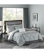Madison Park LaVine 12 Piece Jacquard Comforter Set, Blue, King - $322.46