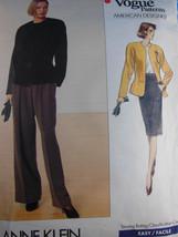 Vogue 2355 Misses Anne Klein Jacket Skirt & Pan... - $3.95