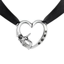 Alchemy P821 Etendu Mort De Coeur Choker Necklace Gothic Pendant Skull H... - $38.49