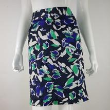 Ann Taylor Loft Womens Sz 12 Blue Black Green Floral Pencil Skirt Lined EUC - $14.95
