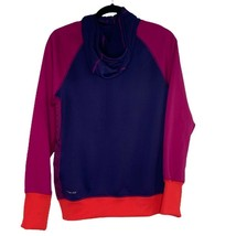Nike Womens Active Jacket Purple Color Block Fleece Lined Hooded Therma-... - $27.10