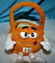 M & M ORANGE M PLUSH CANDY BASKET. DATED c) 2002 CUTE AND SOFT! FREE SHI... - $10.40