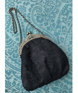 Vintage Black Lace Holiday New Years Eve Purse Evening Bag - $7.63