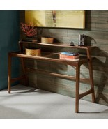 """Ink + Ivy """"Mid century Modern Style"""" Rocket Entry Console Table w Glass ... - $320.00"""