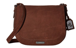 Nwt $278 Ralph Lauren Glennmore Larisa Messenger Crossbody Burnished Bro... - $116.99
