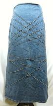 Vtg RT JEANS CO Denim Skirt Long Modest Sz 34 Fits Small Medium Blue Jean Maxi image 1