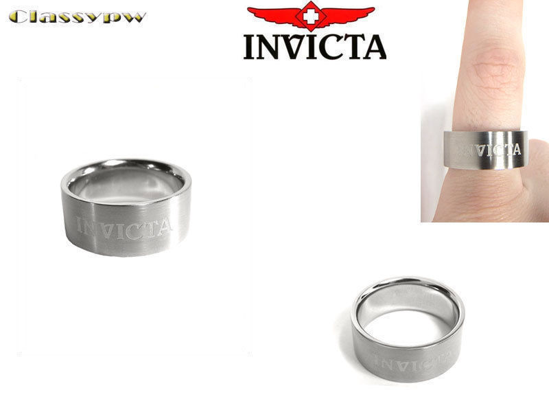 Primary image for INVICTA STAINLESS STEEL UNISEX RING 2531 $315 retail!