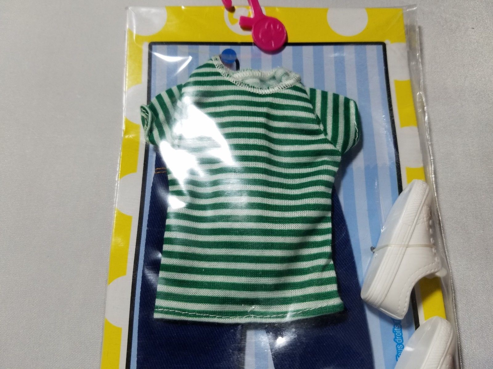 Ken Fashions Outfit Mattel Barbie NIB Casual Striped T-Shirt Jeans Shoes