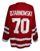Any Name Number Polska Poland Retro Hockey Jersey Red Dzarnowski Any Size image 2
