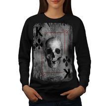 Poker Card Play Skull Jumper Playing Card Women Sweatshirt - $18.99