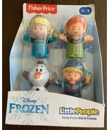 Fisher Price Little People Disney Frozen Anna Elsa Olaf Kristoff 4 Pack ... - $34.61