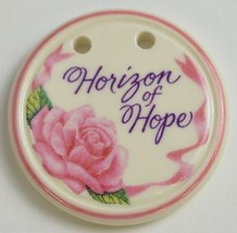 Longaberger Pottery 1998 Horizon Of Hope Basket Tie-On Collectible Home Decor - $14.99