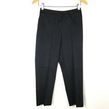 Ann Taylor Womens Pants Sz 0P Petites Black Dress Slacks Cropped Flat Front - $24.74