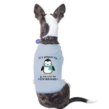 It's Penguin-Ing To Look A Lot Like Christmas Pets Sky Blue Shirt - $14.99