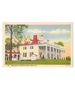 VA George Washingtons Mansion Mount Vernon B S Reynolds Linen Postcard - $4.99