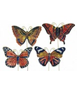 Cloisonne  Butterfly picks. Set of 4pc. Decorate your garden!! 4372p - $29.95