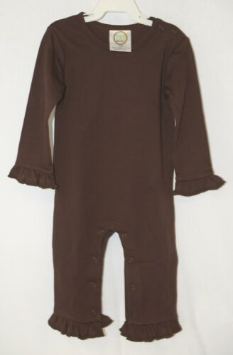 Blanks Boutique Long Sleeve Brown Snap Up Ruffled Romper 18 Months