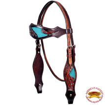 Hilason Western Horse Headstall Bridle American Leather Brown Hilason U-9-HS - $50.48