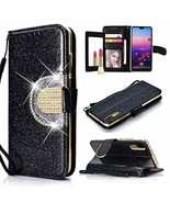 UEEBAI Wallet Flip Case for Huawei P20, Glitter Glossy PU Leather Cover ... - $11.14